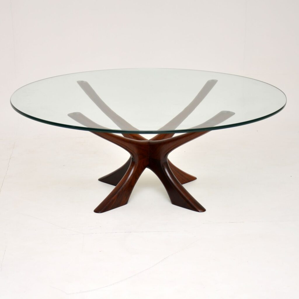 danish rosewood retro vintage coffee table by illum wikkelso