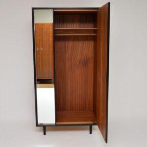 vintage retro walnut wardrobe stag c range john and sylvia reid