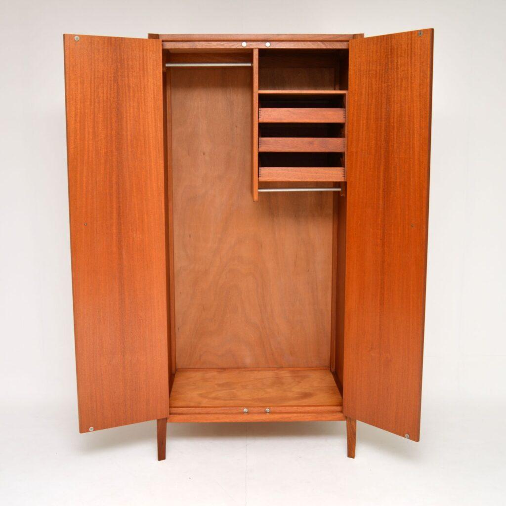 retro vintage walnut wardrobe john herbert younger
