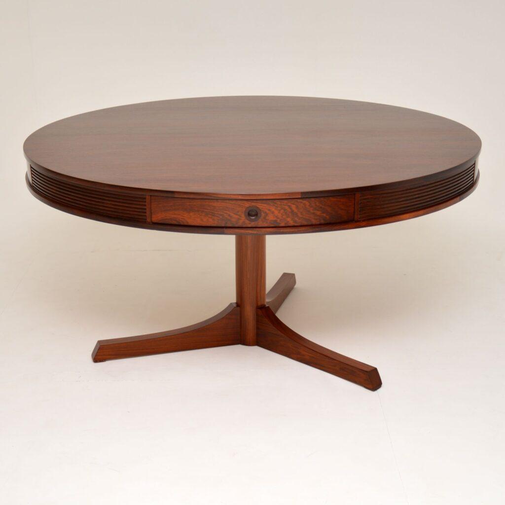 archie shine robert heritage bridgeford drum rosewood dining table