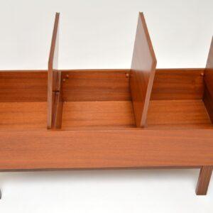 danish teak retro vintage coffee table storage box chest