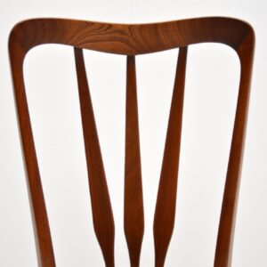 1960's Danish Rosewood & Leather Dining Chairs by Niels Kofoed