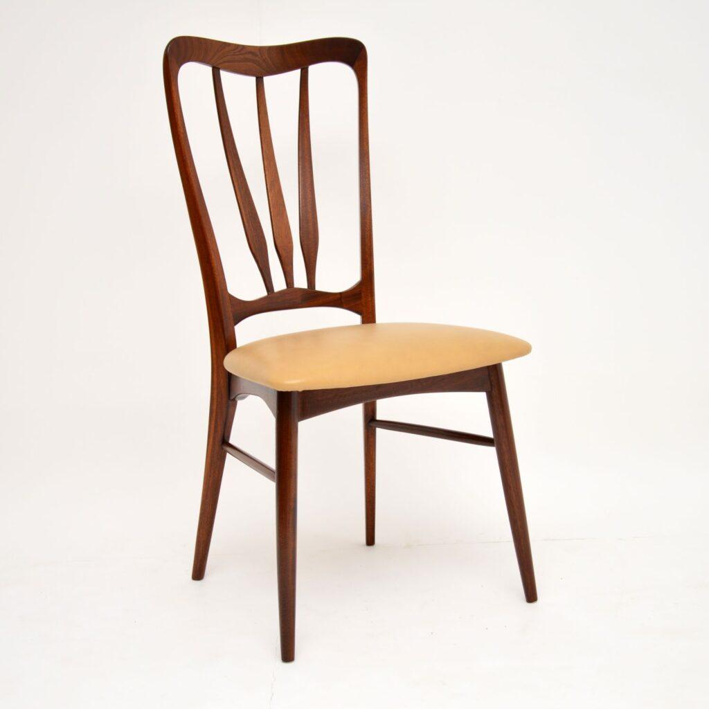 danish retro vintage rosewood dining chairs nils kofoed