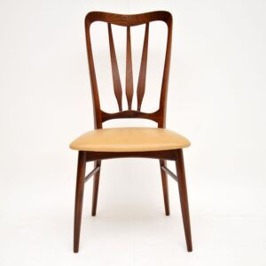 danish retro vintage rosewood dining chairs nils kofoed