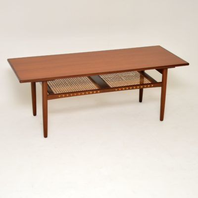danish retro vintage teak coffee table