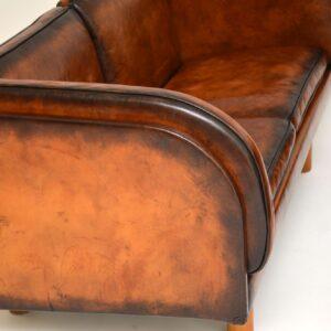 pair danish leather vintage sofa sofas erik jorgensen jorgen gammelgaard