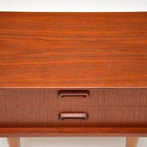 pair danish teak retro vintage bedside chests