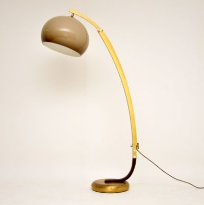 retro vintage italian guzzini arc floor lamp lighting