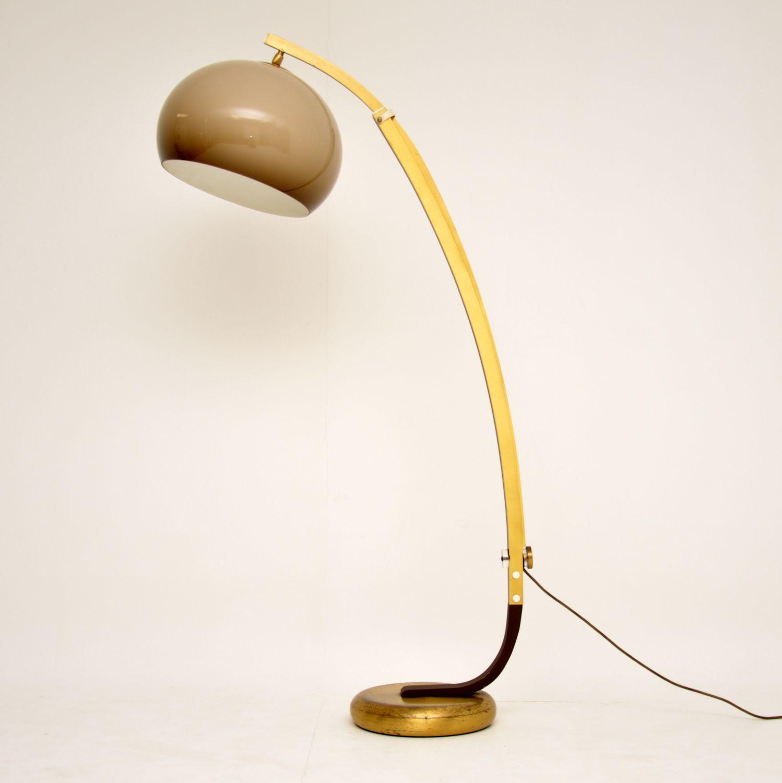 retro vintage italian guzzini arc floor lamp lighting