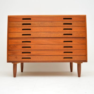 vintage retro industrial mahogany architect plan chest of drawers