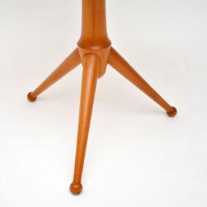 1960's Vintage Burr Maple Tripod Side Table