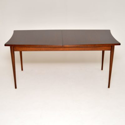 vintage retro danish rosewood dining table uniflex