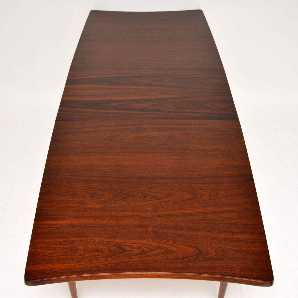vintage retro danish rosewood dining table uniflex