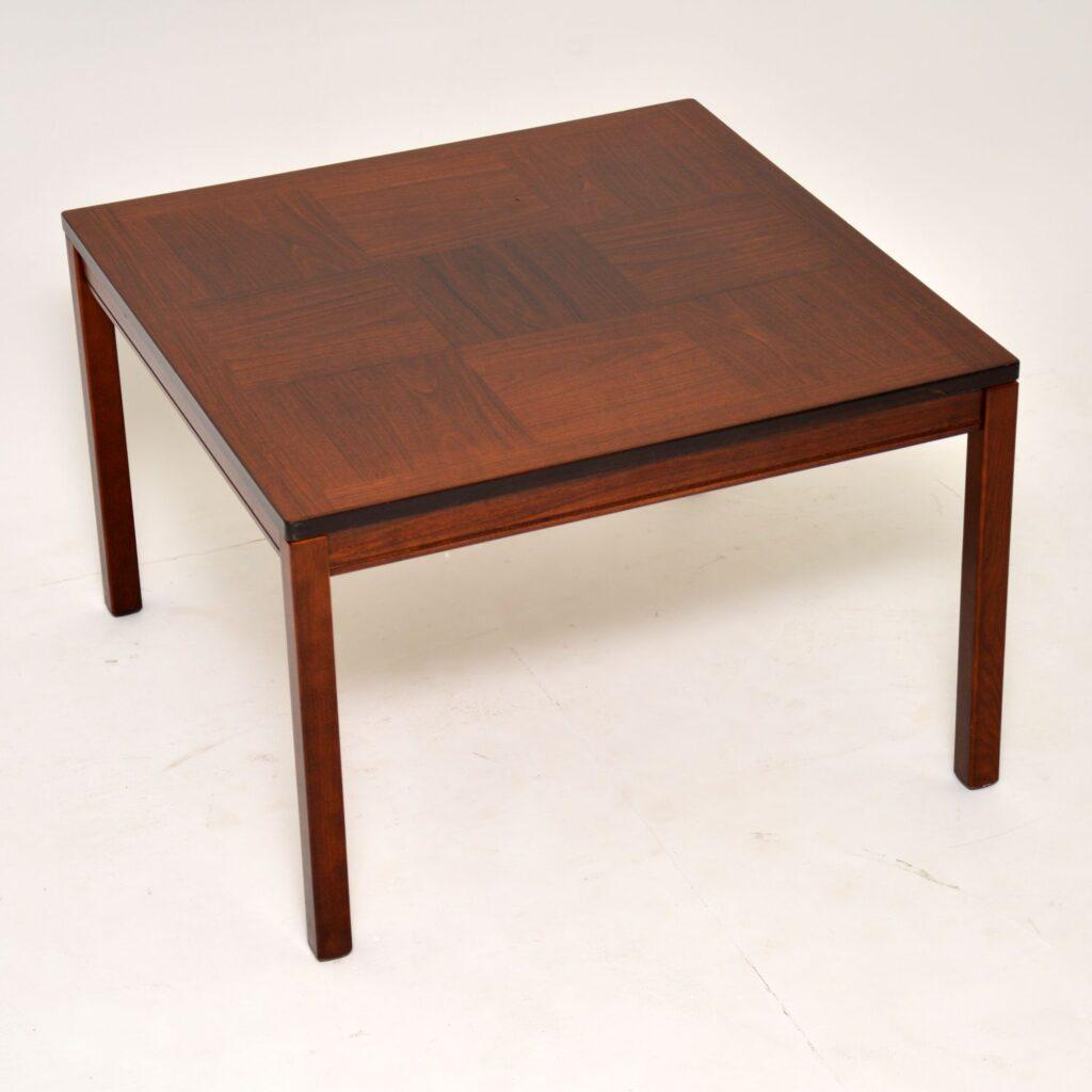 danish retro vintage rosewood coffee table heggen