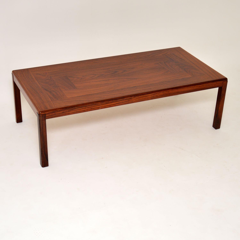 danish retro vintage rosewood coffee table