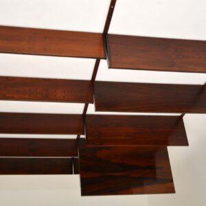 danish rosewood retro vintage wall unit shelving bookcase kai kristiansen