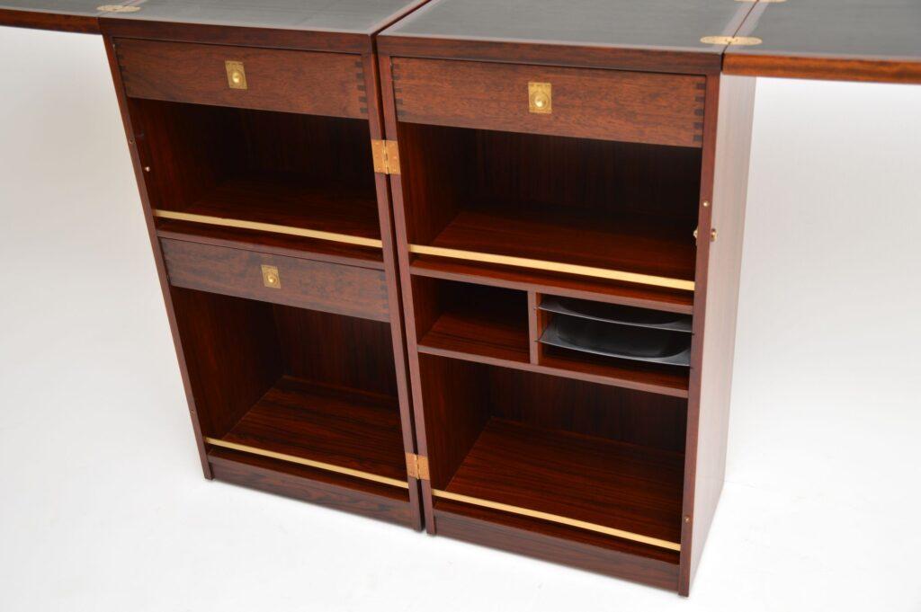 danish rosewood vintage retro bar drinks cabinet dyrlund