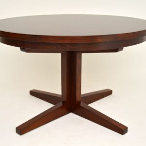1960's Danish Rosewood Flip Flap Lotus Dining Table by Dyrlund