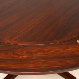 danish rosewood retro vintage dyrlund flip flap lotus dining table