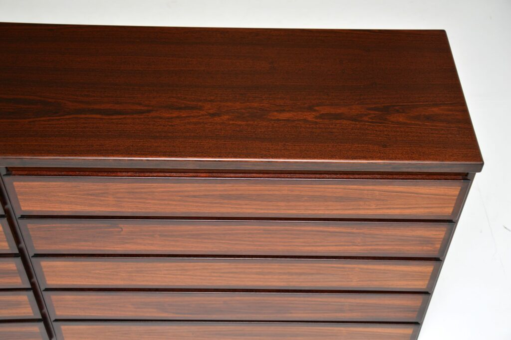 danish rosewood retro vintage sideboard chest of drawers