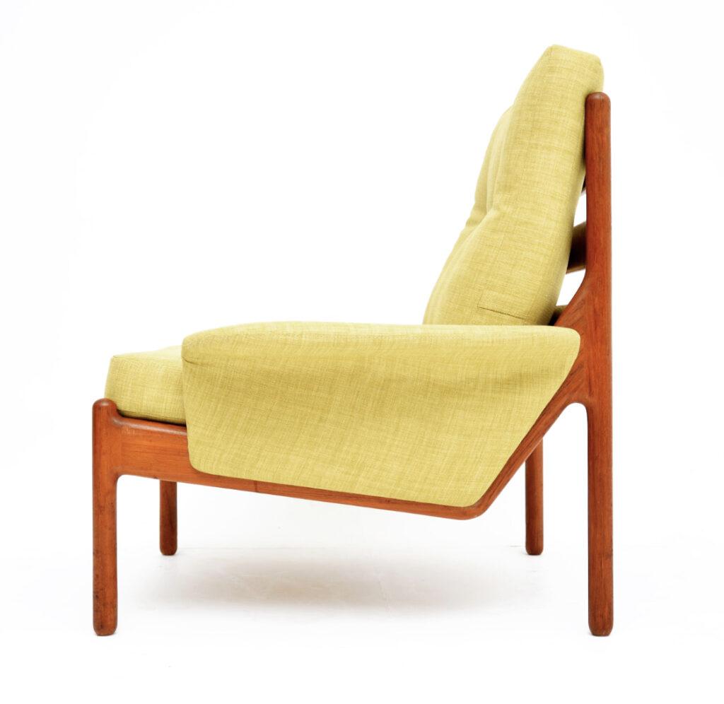 danish retro vintage teak armchairs johannes andersen