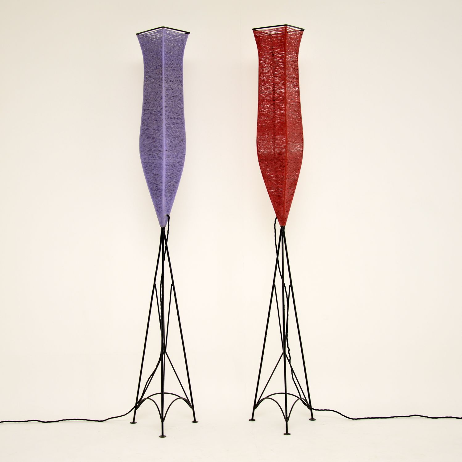 pair of retro vintage floor lamps