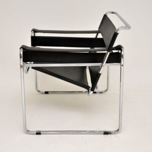 1960's Pair of Vintage Leather & Chrome Wassily Armchairs