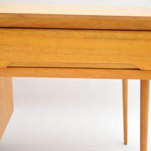 1950's Vintage Satin Wood Desk