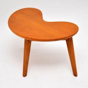 retro vintage walnut boomerang coffee side table