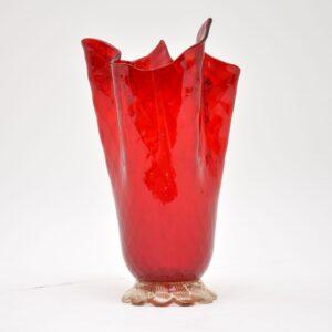 retro vintage italian murano glass vase