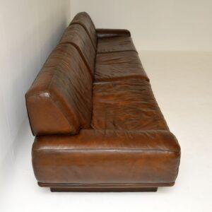 vintage retro leather corner modular sofa de sede