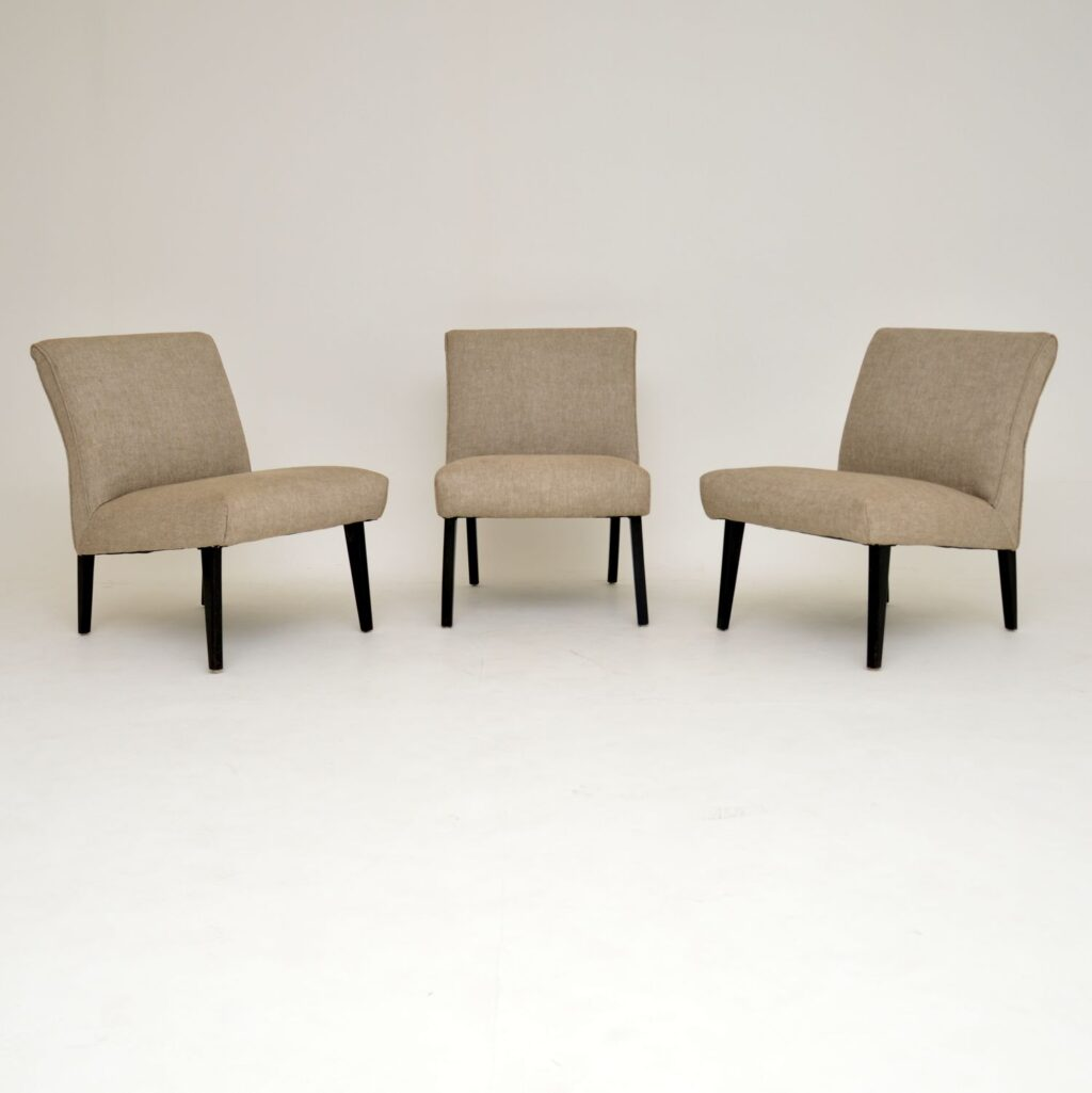 three retro vintage easy chairs lounge chairs modular sofa