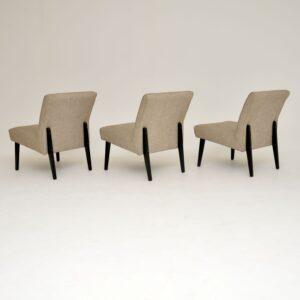 1960's Set of 3 Vintage Easy Chairs / Modular Sofa