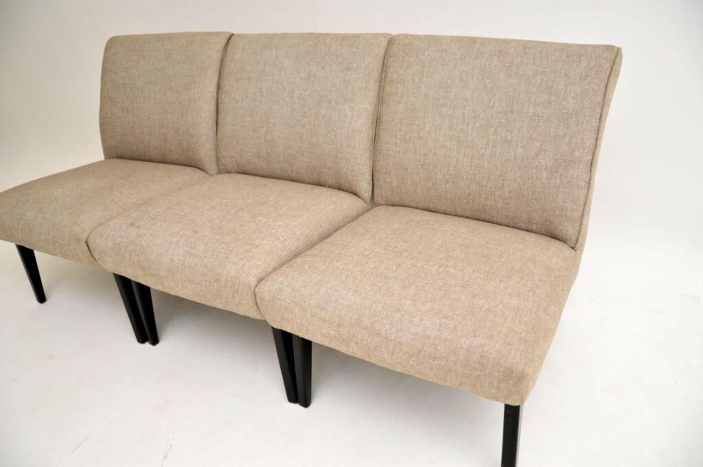 three retro vintage easy chairs lounge chairs modular sofa