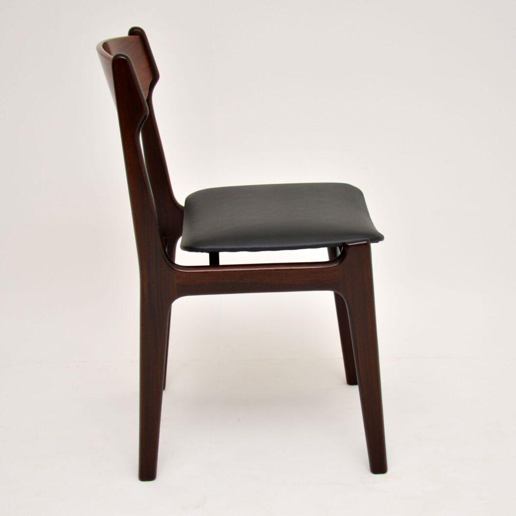 danish rosewood retro vintage dining chairs erik buch