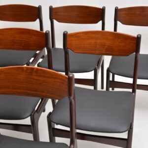danish rosewood retro vintage dining chairs erik buch