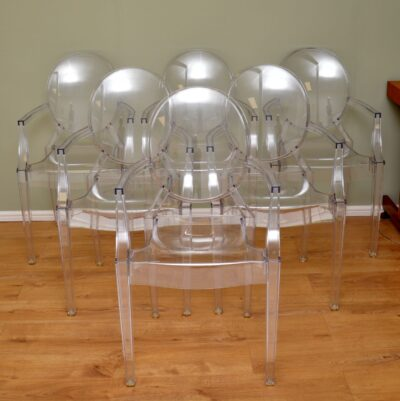 phillipe starck kartell ghost louis chairs