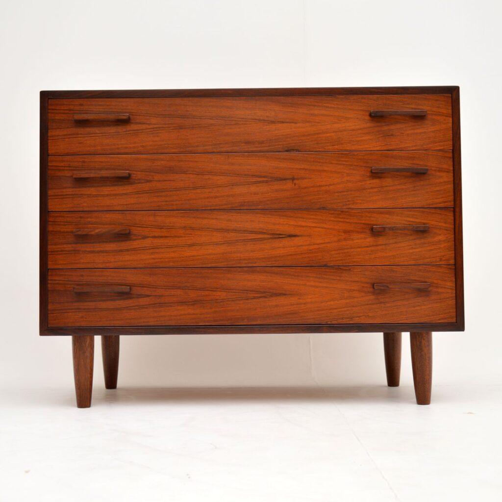 danish retro vintage rosewood chest of drawers kai kristiansen