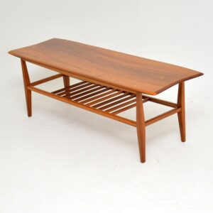 retro vintage walnut coffee table