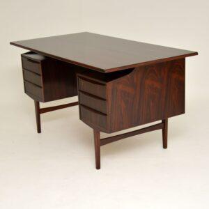 1960's Danish Rosewood Free Standing Desk