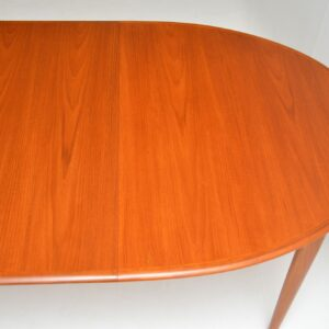 danish retro vintage teak extending dining table