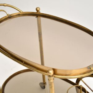 retro vintage brass french drinks trolley