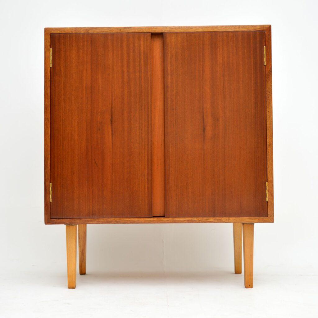 retro vintage mahogany teak drinks cabinet
