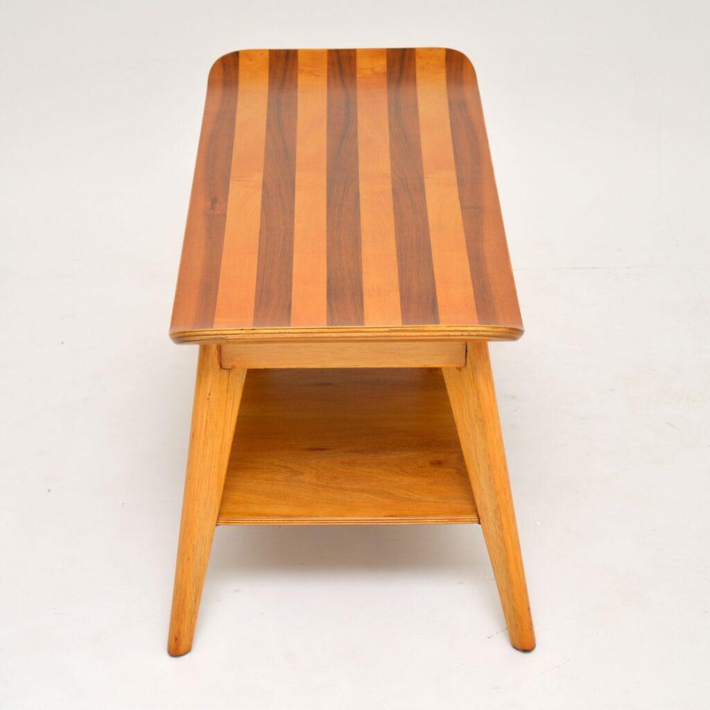 retro vintage gondola walnut coffee table