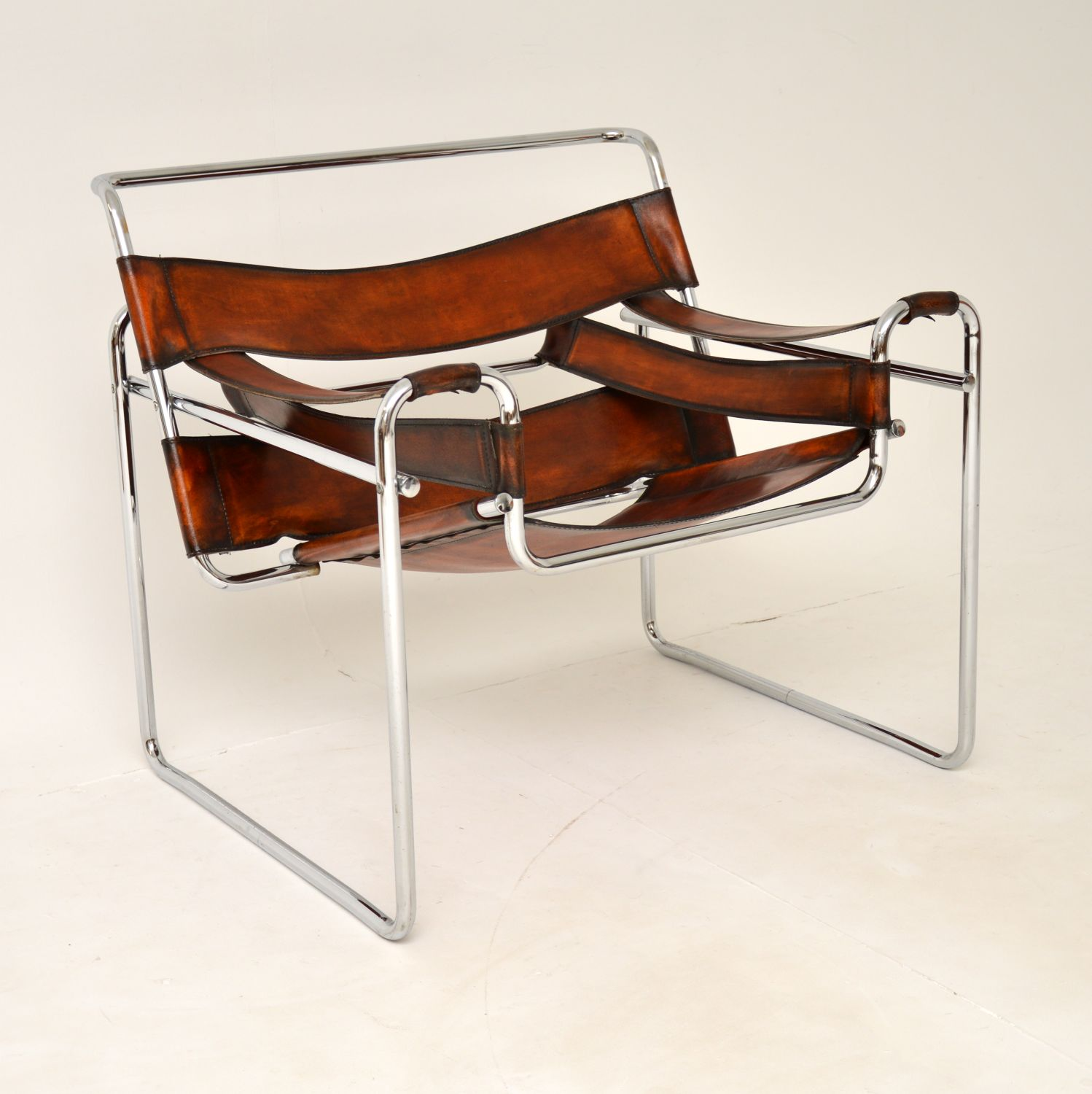 retro vintage chrome leather marcel breuer wassily chair