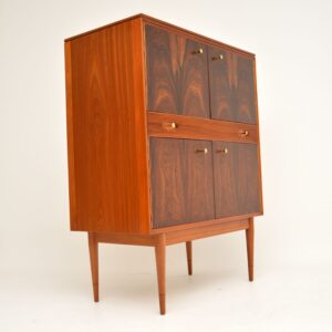 retro vintage rosewood mahogany drinks cabinet robert heritage archie shine