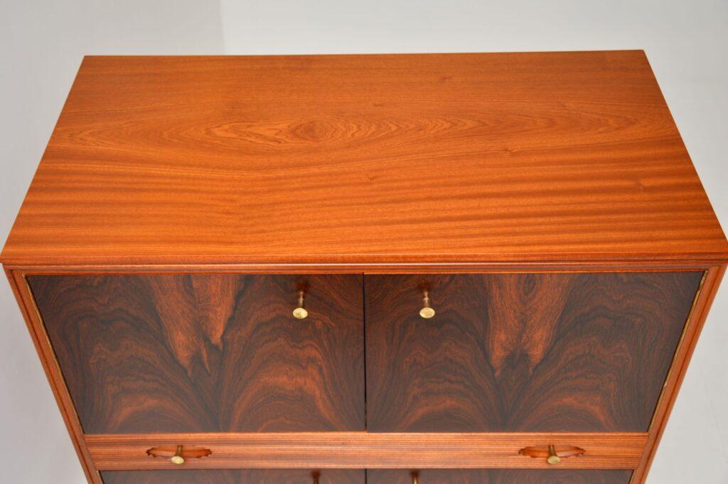retro vintage rosewood mahogany drinks cabinet robert heritage archie shine