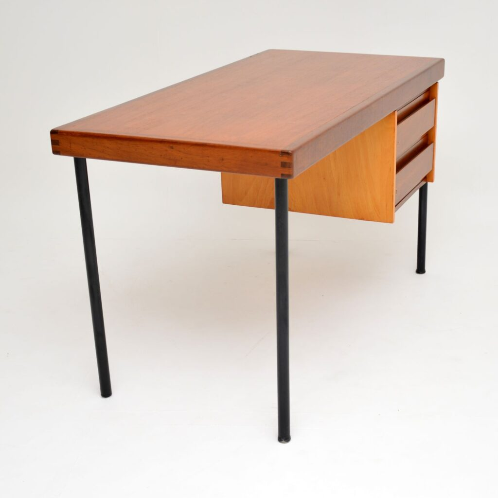 retro vintage teak mahogany desk