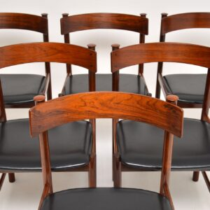 1960's Danish Vintage Rosewood Dining Chairs - Set of 6