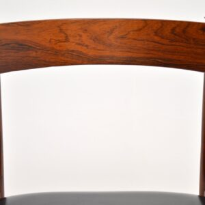 danish retro vintage rosewood dining chairs